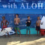 Results for the boys 11 and under final  1. Paumalu Malone  2. Shion Crawford  3. Lohe La'anui  4. Matteus Santos  #hsasurf #surfwithaloha #hta